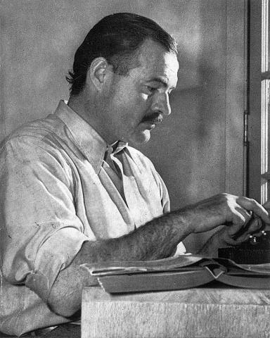 """""""ErnestHemingway"""" by Lloyd Arnold - http://www.phoodie.info/2013/07/19/from-the-desk-of-ernest-hemingway-this-weekend-cuba-libre-celebrates-my-birthday/. Licensed under Public Domain via Commons - https://commons.wikimedia.org/wiki/File:ErnestHemingway.jpg#/media/File:ErnestHemingway.jpg"""